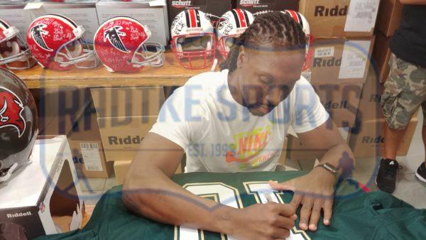 Roddy White Signed University of Alabama at Birmingham (UAB) Custom Green Jersey-32721