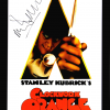 Malcolm McDowell Signed A Clockwork Orange Framed Poster - White-0