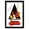 Malcolm McDowell Signed A Clockwork Orange Framed Poster - White-32658