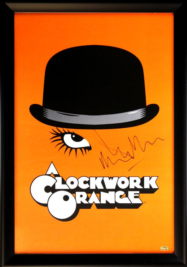 Malcolm McDowell Signed A Clockwork Orange Framed Poster - Orange-0