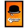 Malcolm McDowell Signed A Clockwork Orange Framed Poster - Orange-32663