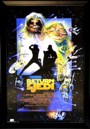 Harrison Ford Signed Star Wars Episode VI Return Of The Jedi Framed Movie Poster-0