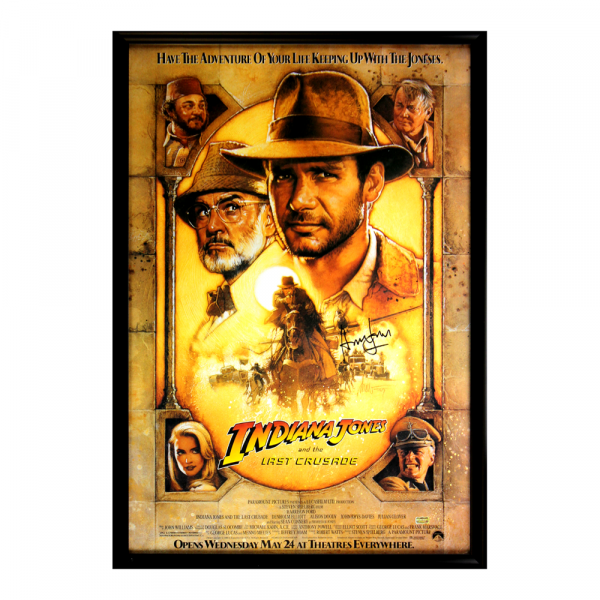Harrison Ford Signed Indiana Jones The Last Crusade 27x40 Framed Movie Poster-32673