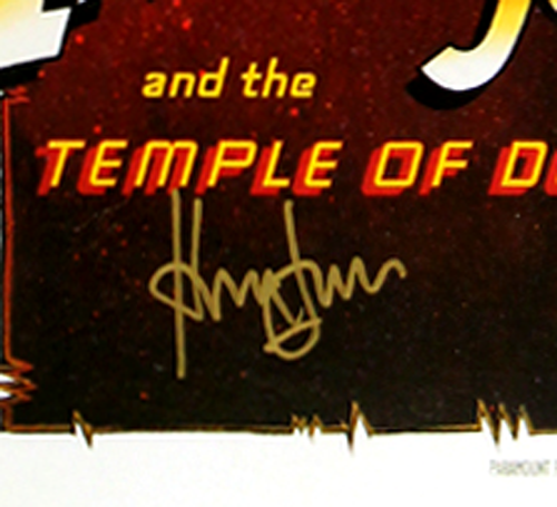 Harrison Ford Signed Indiana Jones And The Temple Of Doom - Whole Cast 27x40 Framed Movie Poster-32677
