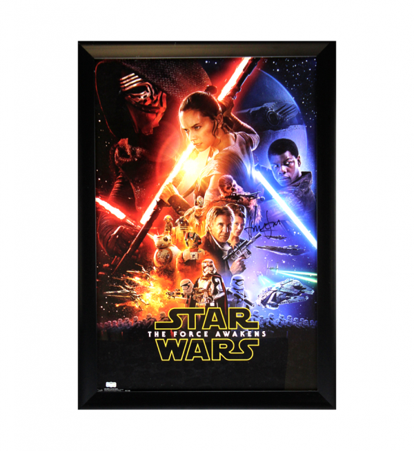Harrison Ford Signed Star Wars The Force Awakens 22x34 Framed Movie Poster-32693