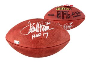 "Terrell Davis Signed Denver Broncos Wilson Paul Tagliabue Authentic NFL Football With ""HOF 17"" Inscription-0"