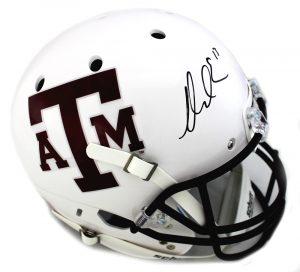 Mike Evans Signed Texas A&M Aggies Schutt Full Size Schutt White NCAA Helmet-0
