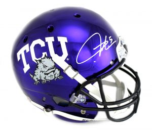 LaDainian Tomlinson Signed TCU Horned Frogs Chrome Schutt Full Size NCAA Helmet-0