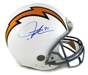 LaDainian Tomlinson Signed San Diego Chargers Throwback White Authentic Helmet-0