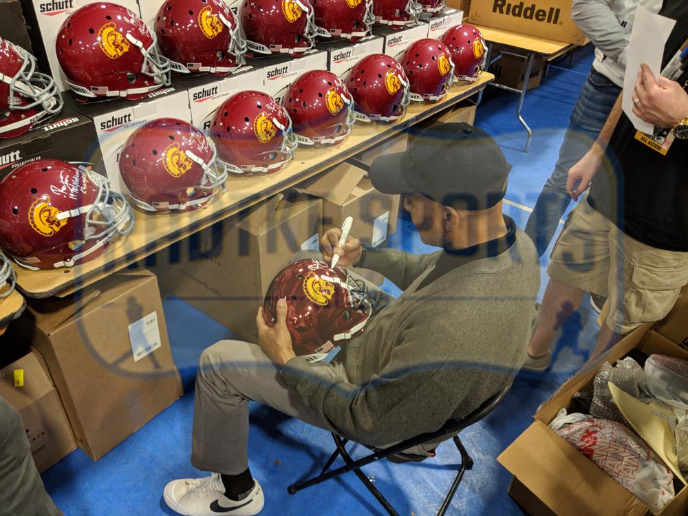 e39727b18 Ronnie Lott Signed San Francisco 49ers Riddell NFL Blaze Mini Helmet-29426  ...
