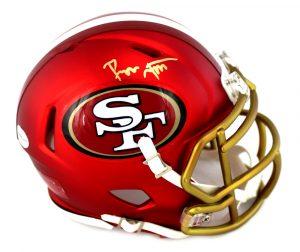 Ronnie Lott Signed San Francisco 49ers Riddell NFL Blaze Mini Helmet-0