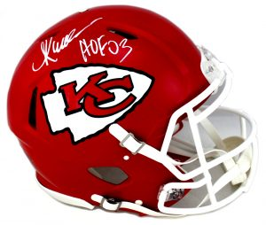 "Marcus Allen Signed Kansas City Chiefs Authentic NFL Speed Helmet With ""HOF 03"" Inscription-0"