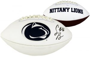 Saquon Barkley Signed Penn State Embroidered NCAA Football-0