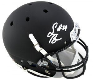 Saquon Barkley Autographed/Signed Penn State Nittany Lions Schutt Black Full Size NCAA Helmet-0
