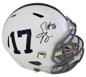 Saquon Barkley Autographed/Signed Penn State Nittany Lions Riddell Speed Full Size NCAA Helmet-0