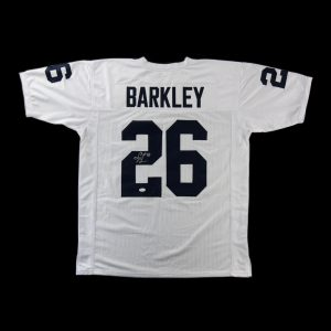Saquon Barkley Autographed/Signed Penn State Nittany Lions Custom White Away Jersey-0