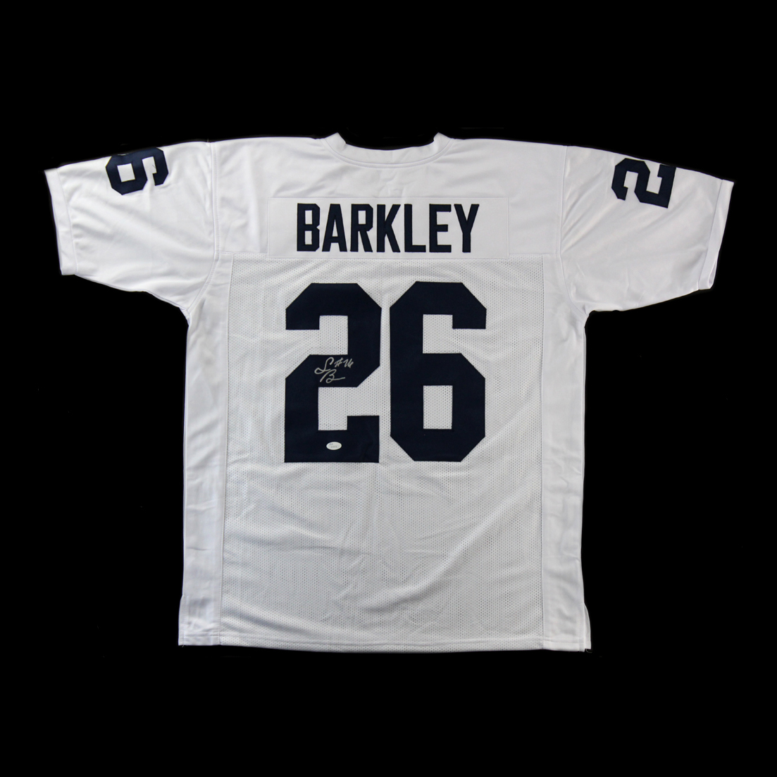 on sale d8fb1 bd677 Saquon Barkley Autographed/Signed Penn State Nittany Lions Custom White  Away Jersey