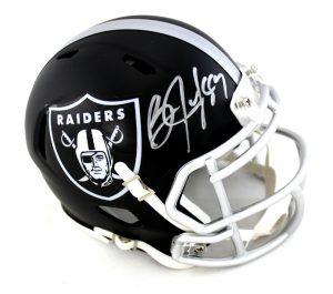 Bo Jackson Signed Oakland Raiders Riddell NFL Mini Blaze Helmet-0