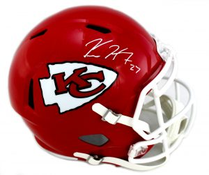 Kareem Hunt Signed Kansas City Chiefs Full Size NFL Speed Helmet-0