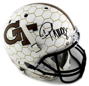 Demaryius Thomas Signed Georgia Tech Schutt Full-Size Honeycomb Helmet-0