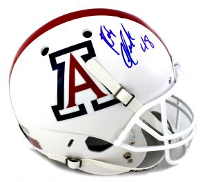 Rob Gronkowski Autographed/Signed Arizona Wildcats Schutt NCAA White Full Size Helmet-0