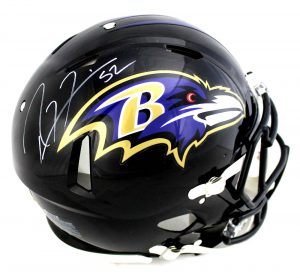 Ray Lewis Signed Baltimore Ravens Full Size Authentic Black Speed Helmet -0
