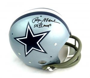 Roger Staubach Autographed/Signed Dallas Cowboys TK Suspension Helmet with SB VI MVP Inscription-0