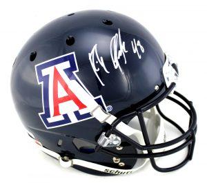 Rob Gronkowski Autographed/Signed Arizona Wildcats Schutt Navy Full Size NCAA Helmet-0