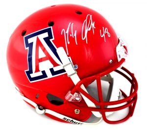 Rob Gronkowski Autographed/Signed Arizona Wildcats Schutt NCAA Red Full Size Helmet-29225