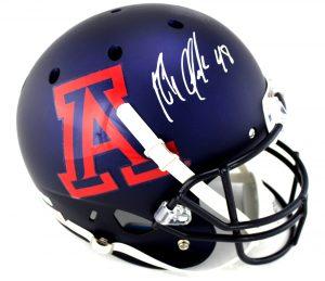 Rob Gronkowski Autographed/Signed Arizona Wildcats Schutt NCAA Matte Navy Full Size Helmet-0