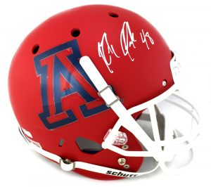 Rob Gronkowski Autographed/Signed Arizona Wildcats Schutt NCAA Matte Red Full Size Helmet-0