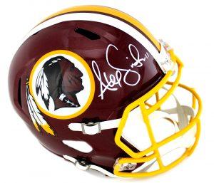 Alex Smith Signed Washington Redskins Riddell NFL Speed Full Size Helmet-0