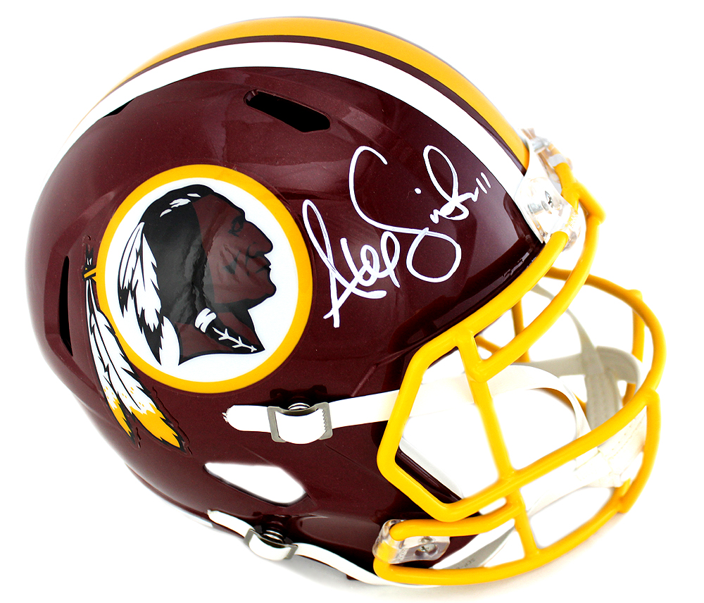 17d80212f Alex Smith Signed Washington Redskins Riddell NFL Speed Full Size Helmet-0