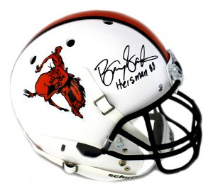 "Barry Sanders Signed Oklahoma State Cowboys Throwback Schutt Full Size NCAA Helmet - ""Heisman 88""-0"