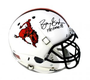 "Barry Sanders Signed Oklahoma State Cowboys Schutt Authentic Full Size NCAA Helmet ""Heisman 88"" Inscription-0"
