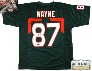 Reggie Wayne Signed Miami Black Custom Jersey-0
