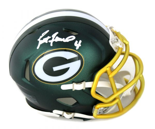 Brett Favre Signed Green Bay Packers Blaze Mini Helmet-0