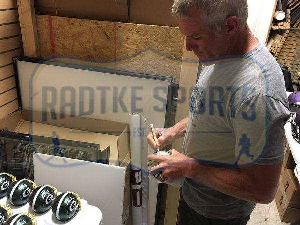 Brett Favre Signed Atlanta Falcons Blaze Mini Helmet-29368