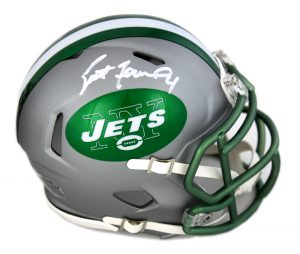 Brett Favre Signed New York Jets Blaze Mini Helmet-0