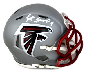 Brett Favre Signed Atlanta Falcons Blaze Mini Helmet-0