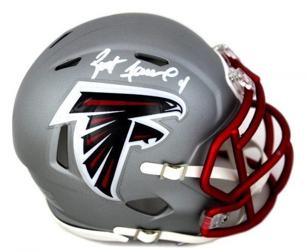 Brett Favre Signed Atlanta Falcons Blaze Mini Helmet-0
