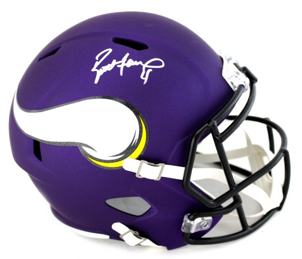 Brett Favre Signed Minnesota Vikings Riddell Full Size Speed Helmet-0