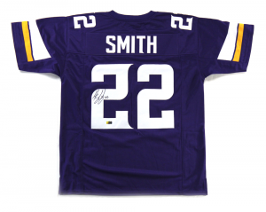 Harrison Smith Signed Minnesota Vikings Purple Custom Jersey-0