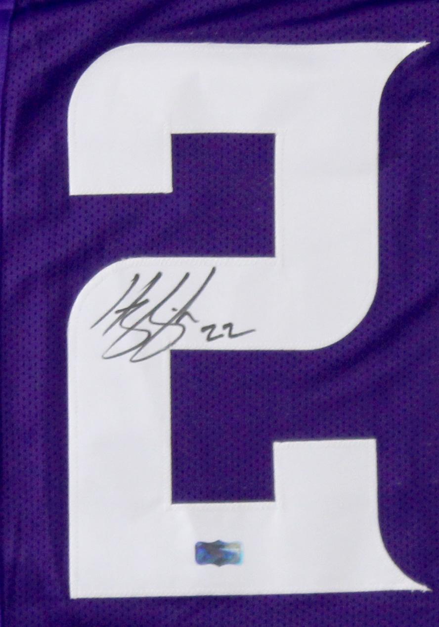sale retailer 57bd5 f583a Harrison Smith Signed Minnesota Vikings Purple Custom Jersey