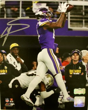 "Stefon Diggs Signed Minnesota Vikings 8X10 NFL ""Miracle Shot"" Photo-0"