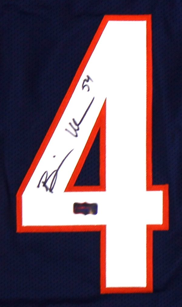 Brian Urlacher Signed Chicago Custom Blue Jersey-31766
