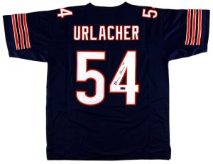 Brian Urlacher Signed Chicago Custom Blue Jersey-0