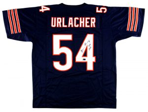 "Brian Urlacher Signed Chicago Custom Blue Jersey With ""HOF 2018"" Inscription-0"
