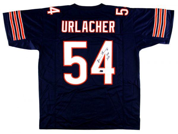 "Brian Urlacher Signed Chicago Custom Blue Jersey With ""HOF 2018"" Inscription-0"