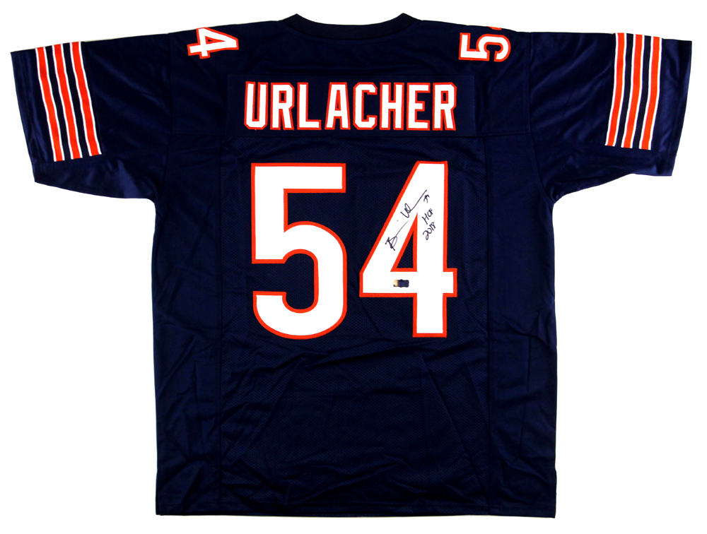 factory price 3587d cfb59 Brian Urlacher Signed Chicago Custom Blue Jersey With